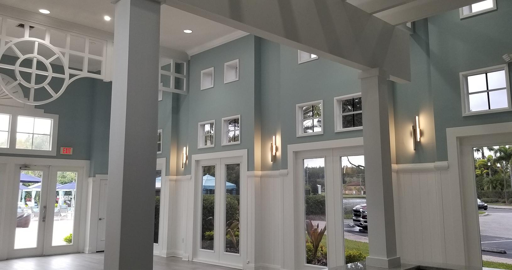Arbors at Carrollwood interior renovations lobby