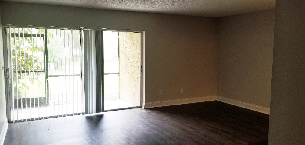 Renovated living room from Think Construction Services