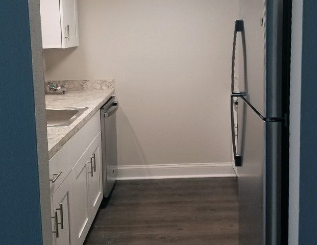 Renovated white and grey kitchen