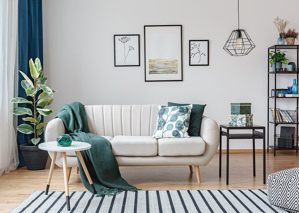 White and Green modern apartment